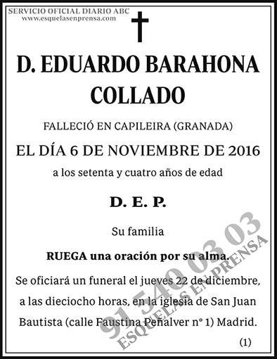 Eduardo Barahona Collado